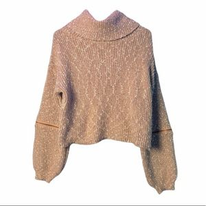 36 Point 5 Turtleneck Brown Sweater ,size S/M